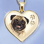 Keepsake Pug Dog Pendant