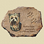 Pollyanna Pickering Yorkies Leave Paw Prints On Our Hearts Collector Plate