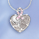 Angel's Wings Of Hope Breast Cancer Charity Pendant Necklace