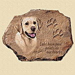 Linda Picken Yellow Labs Leave Paw Prints On Our Hearts Collector Plate