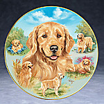 Linda Picken Golden Retriever A Heart of Gold Collector Plate