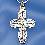 Eternal Devotion Diamond Cross Pendant Necklace