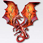 Temptress Of Fire Collectible Red Dragon Wall Sculpture