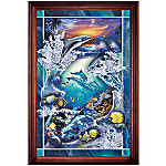 Dolphin Wall Decor Art Stained Glass: Illuminations of Paradise