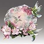 Whispering Wings Lena Liu Hummingbird Art Collector Plate