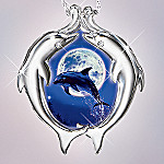 Christian Riese Lassen Moonlit Dance Dolphin Diamond Pendant Necklace