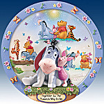 Winnie The Pooh Eeyore Collector Plate: Together Is The Funnest Way To Be
