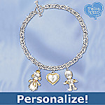 Precious Moments Mother's Little Gems Personalized Birthstone Charm Bracelet Gift For Mom