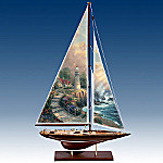 Thomas Kinkade Sea Of Tranquility Collectible Wooden Sailboat Replica