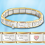 My Daughter, I Wish You Italian Charm Bracelet With Swarovski(R) Crystals