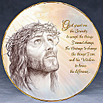 Jesus Porcelain Collector Plate: Serenity