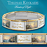 Thomas Kinkade Hope Lights The Way Italian Charm Bracelet With Swarovski(R) Crystals