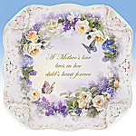 Lena Liu A Mother's Love Butterfly And Floral Art Collector Plate