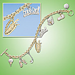 Love Of The Links Golf Charm Bracelet: Golf Jewelry Gift For Her
