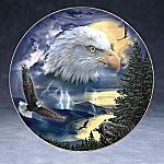 American Bald Eagle Art Collector Plate: Storm King