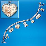 Purr-fect Companion Cat Charm Bracelet Jewelry
