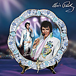 Elvis Presley Jewel Of Vegas Collector Plate