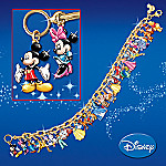 Ultimate Disney Classic Link Charm Bracelet: Disney Christmas Jewelry Gift for Her