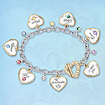 My Granddaughter, I Wish You Heart-Shaped Charm Bracelet