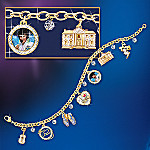 Collectible Elvis Presley Showstopper Charm Bracelet