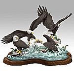Rapid Strike American Bald Eagle Wildlife Collectible Figurine
