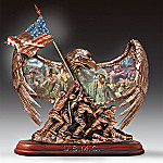 Collectible U.S.M.C. Iwo Jima Tribute With Eagle Figurine: Legacy Of Valor