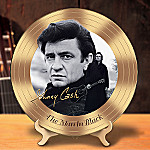 Johnny Cash Collector Plate: The Man In Black