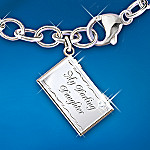 Dear Daughter Letter Of Love Engraved Locket Bracelet