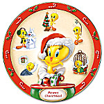 Mewwy Chwistmas Collectible Warner Bros Tweety Collector Plate