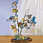 Fluttering Fantasy Bluebird Collectible Tabletop Sculpture
