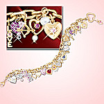 Ultimate Love Heart Charm Bracelet: Romantic Jewlery Gift For Her