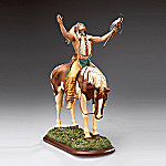 Native American Style Warrior And Horse Collectible Sculpture: Deliverance