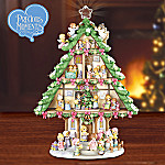 Collectible Precious Moments Sharing Christmas Joy Tabletop Christmas Tree