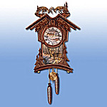 Timeless Nobility Collectible Cuckoo Clock With Deer Art