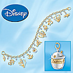 Disney Winnie The Pooh & Friends Charm Bracelet Jewelry Christmas Gift for Her