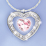 My Daughter, My Love Heart-Shaped Pendant Necklace: Jewelry Gift For Daughter