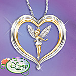 Disney's Tinker Bell Believe Pendant Necklace Jewelry Christmas Gift for Her