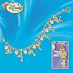Disney Tinker Bell Charming Heart Charm Bracelet
