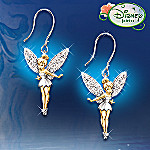 Disney's Tinker Bell Believe Pierced Earrings Jewelry Christmas Gift for Her