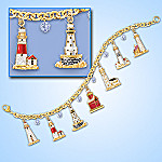 Guiding Lights Of The Great Lakes Lighthouse Charm Bracelet