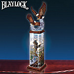 Splendor In The Sky Collectible Eagle Art Illuminated Tabletop Sculpture