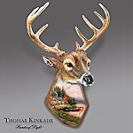 Thomas Kinkade End Of A Perfect Day Deer Shaped Wall Decor: Collectible Deer Lover Gift