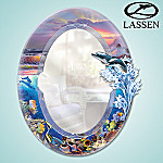 Unique Dolphin Home Decor: Shimmering Splendors Of Paradise Decorative Mirror