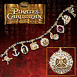 A Pirate's Treasure Charm Bracelet With Black Pearls: Pirates Of The Caribbean Jewelry
