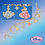 Disney Princess Charm Bracelet With Swarovski Crystals: Collectible Disney Jewelry