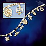 Navy Pride Charm Bracelet: U.S. Navy Jewelry Gift