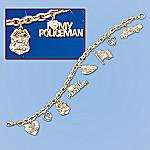 I Love My Policeman Charm Bracelet: Police Jewelry Gift