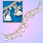 Disney Kiss Charm Bracelet: Classic Disney Movie Moments Romantic Jewelry
