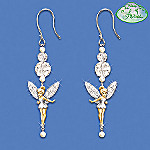 Disney Tinker Bell Dazzle Beaded Dangle Earrings: Jewelry Gift