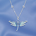 Louis Tiffany Era Dragonfly Wings Necklace: Dragonfly Jewelry Gift